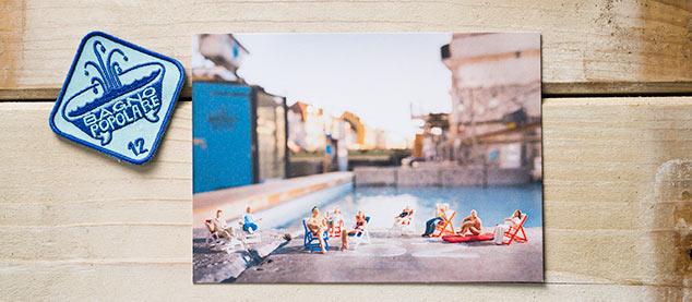 Badekult. Postkarte Bagno Popolare baden