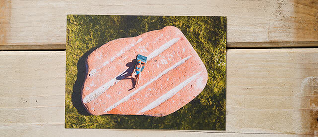 Postkarte Kleine Badende, Badekult, Sonnendeck Baden