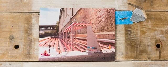 Postkarte Kleine Badende, Badekult,Thermalbank Baden