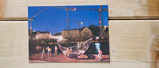 Postkarte Kleine Badende, Badekult, Ennetbaden