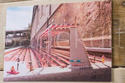 Maxi Postkarte Thermalbank