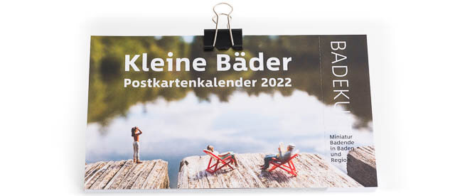 BadekultKleine Bäder Postkartenkalender 2022 von Nicolas Petit Baden/Ennetbaden