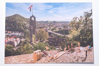 Postkarte Ruine Stein