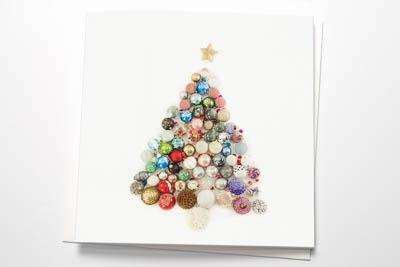 Weihnachtsklappkarten mit Kuvert